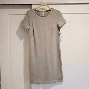 Old Navy, Fitting Crew-Neck Tee Dress, Gray